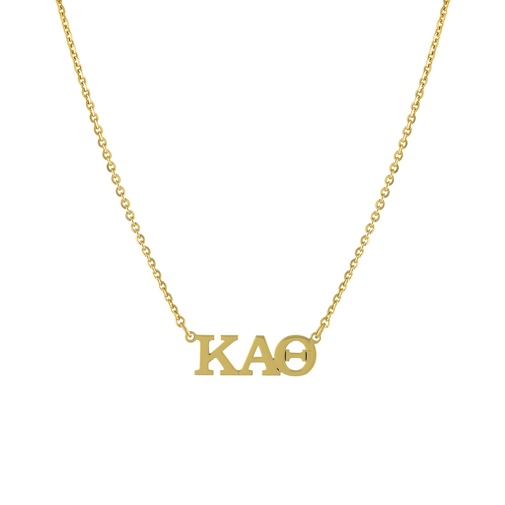 Sorority Letters Horizontal Lavalier Necklace
