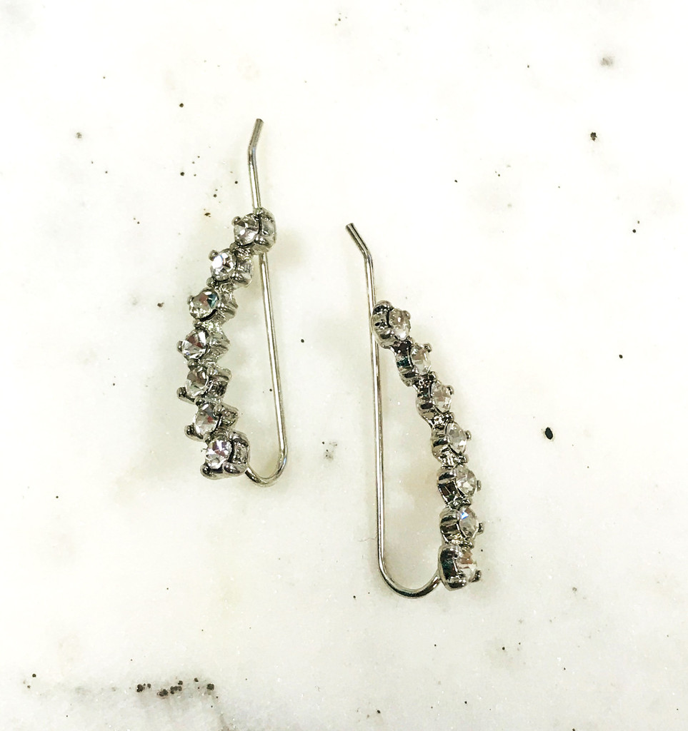 Cubic Zirconia Ear Crawler in Gold or Silver