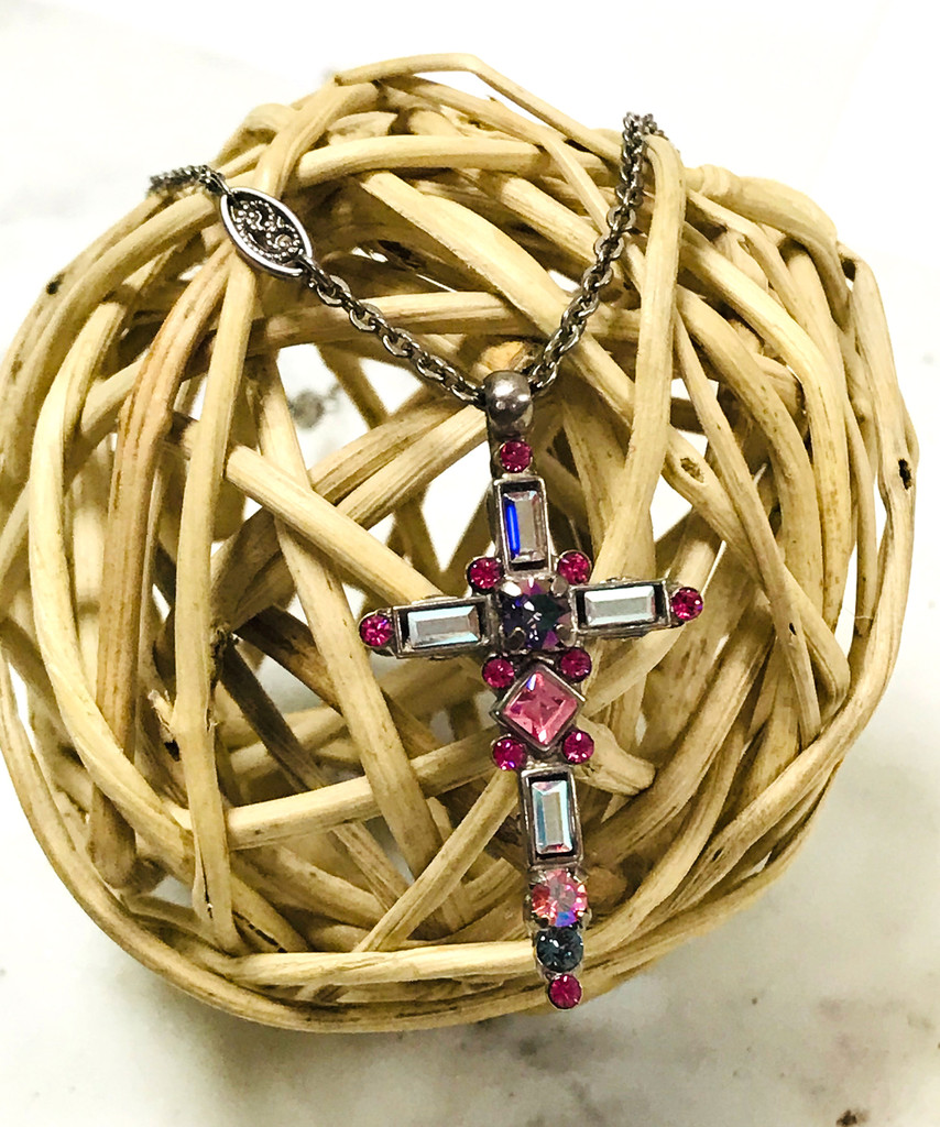 Sorrelli Starlight Aura Aura Borealis Cross Necklace