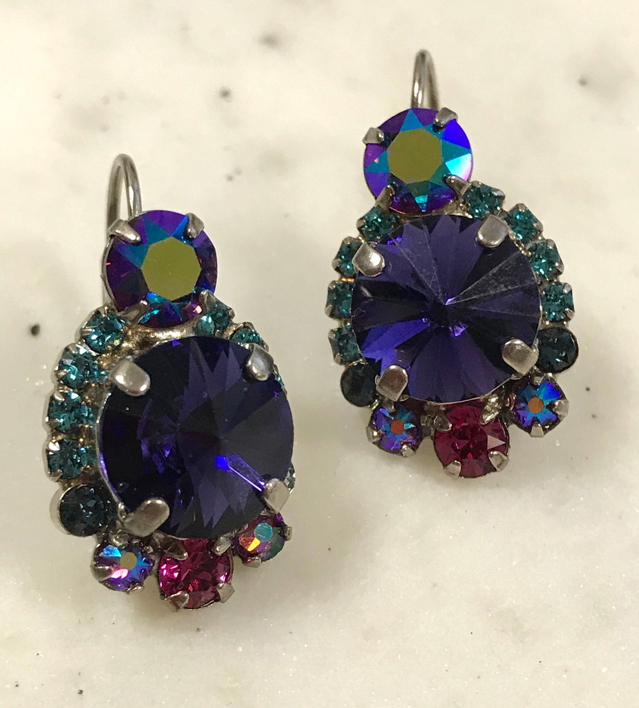 Sorrelli Northern Lights Midnight Sapphire Eurowire Earring
