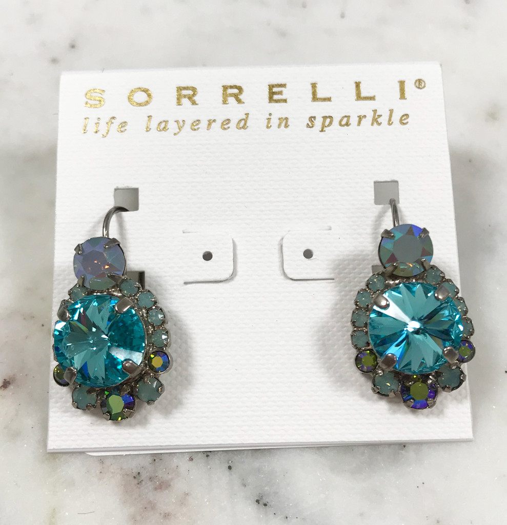 Sorrelli Teal/Ant.Silver Euro Wire Earring