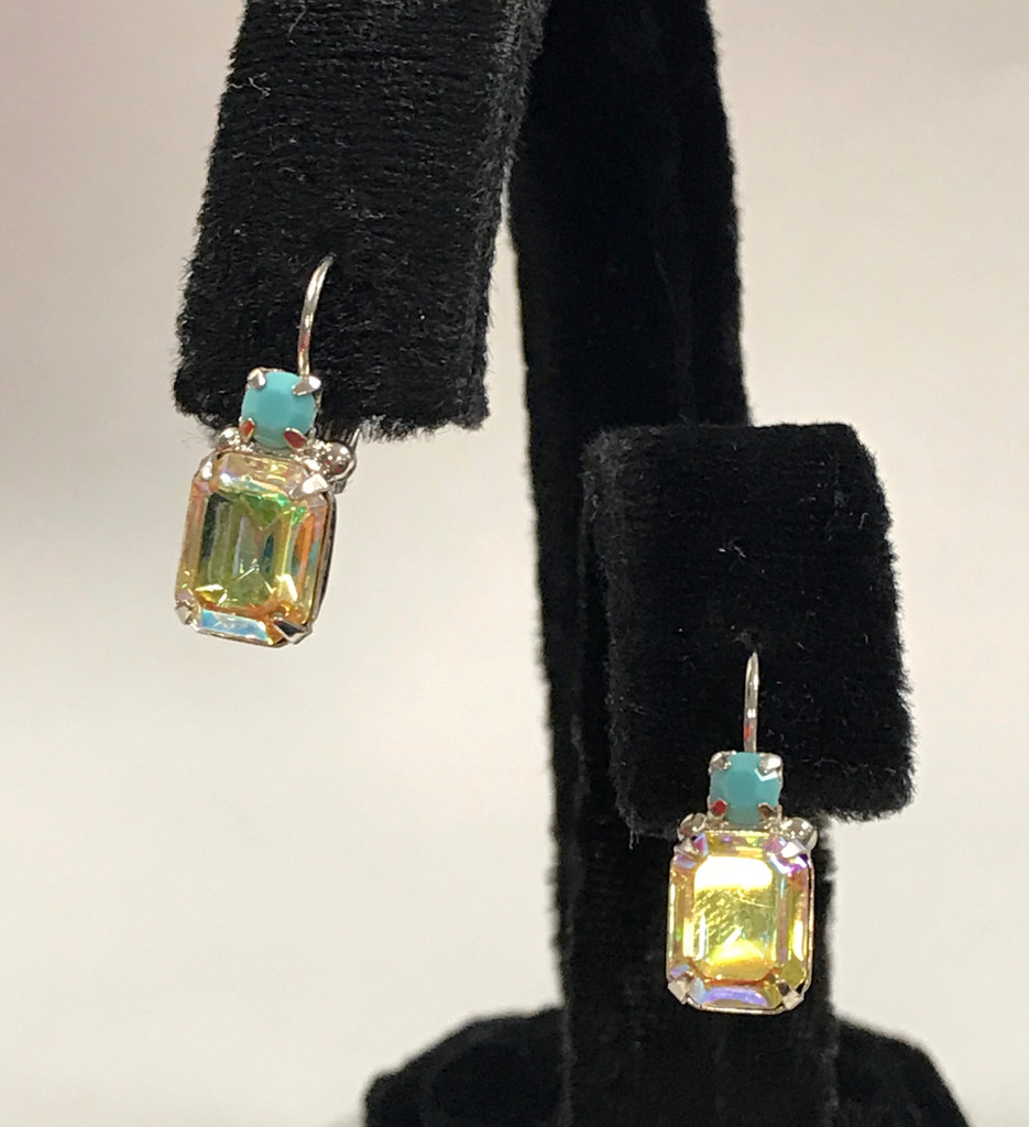 Sorrelli Tahitian AB French Wire Crystal Earring