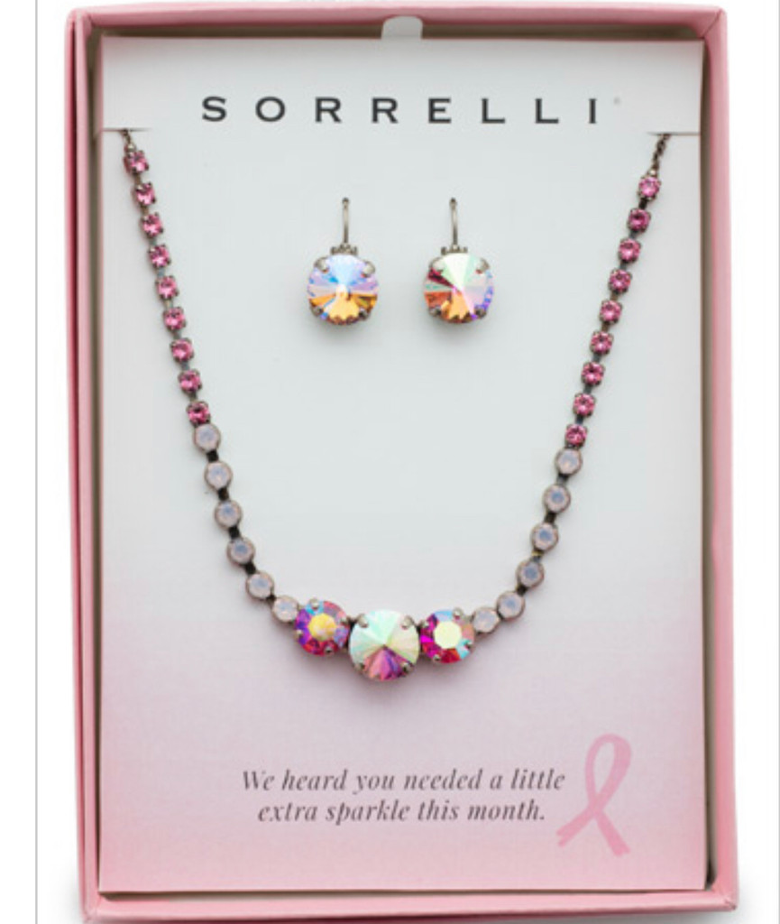Sorrelli Pink Passion Adorned Earring/Necklace Gift Set