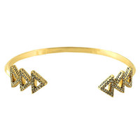 House of Harlow's Tessellation Gold Cuff