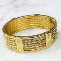 Gold Twisted Cables Bangle