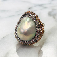 Fresh Water Moby Pearl Ring