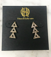 House of Harlow's Gold Tone Tessellation Earrings