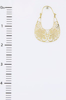 Filigree Laser Cut Purse Style Earring