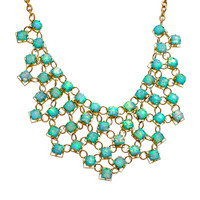 Baby Blue Opal Chiclet Bib Necklace