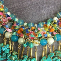 Boucle Textural Mixed Bead Necklace 1
