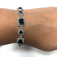 Geena's Crystal Circles and Square Bracelet