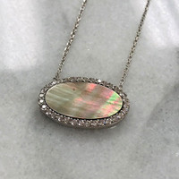 Abalone Oval Necklace