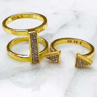 C.C. Skye's Punk Heiress Ring in Gold