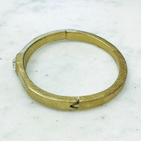 Square C.Z. in Brushed Finished Bangle