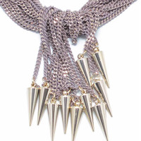 Sugar and Spikes Necklace Tan