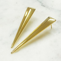 Geometric Gold Triangular Spike Earring
