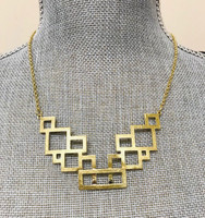 Stacked Squares Necklace