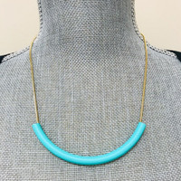 Totally Tubular Mint Necklace