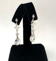 Pear Shaped Rock Crystal Teardrop Earring