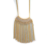 Long Multi Chain Tassel Pendant