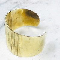 Let's Get Wired Gold Cuff