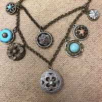 Vintage Treasured Metal Medallions Necklace