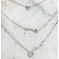 Triple Layered Cupid's Arrow Necklace
