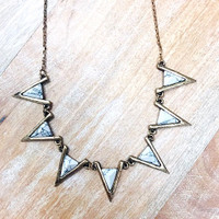 Howlite Marbled Triangles