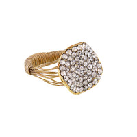 Small Pave Button Wire Ring