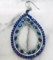 Exotic Jewel Teardrop Earrings