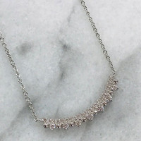 C.Z. Bar Necklace