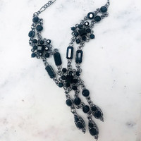 Victorian Jet Crystal Necklace
