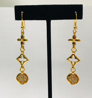 Kisses and Hugs Statement Gold Earrings