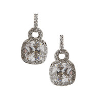 Large Square Crystal Drop Earring