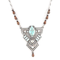 Victorian Turquoise Medallion Necklace