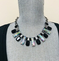 Black Crystal Arch Collar