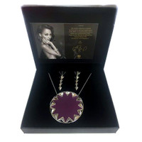 Limited Edition House of Harlow Larger Aubergine Leather Gift Set