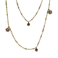 Dahlias and Daisies Chain Necklace