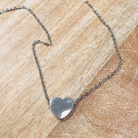 My Simple Heart Necklace In Gold And Silver