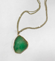 Natural Green Agate Stone Necklace
