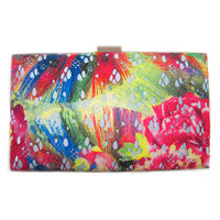 Sondra Roberts Watercolor Lace Clutch