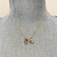 Bicycle Charm Necklace