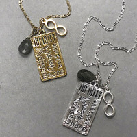 Infinity and Hope Charm Necklace