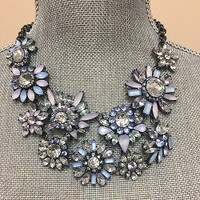 Frosted Pastel Floral Explosion Necklace