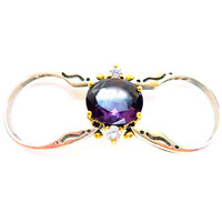 Reversible High-Set Gemstone Rings Y