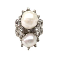 Heirloom Pearl Cigar Band Ring