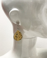 Bold Gold Teardrop Dangle with Cutouts