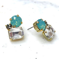 Pacific Opal Trio Crystal Stud