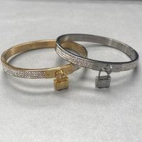 Bangle with Pave C.Z. and Lock