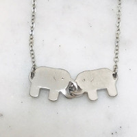 Locking Trunks Necklace in Silver